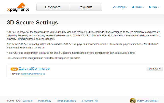 X-Payments:3D-Secure settings - X-Payments Help