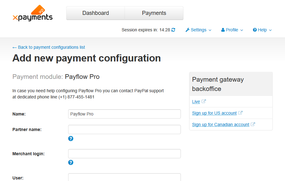 X-Payments:Configuring PayPal payment modules in X-Payments - X