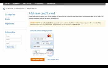 PCI compliant credit card storing in X-Cart 5
