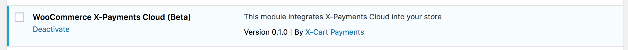 X-Payments in WooCommerce modules list